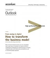 Accenture Outlook From Analog to Digital How to Transform the Business Model