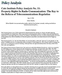 The Cato Institute Communication via Social Media