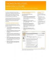 Thomson Reuters Web Disclosure Fact Sheet.pdf