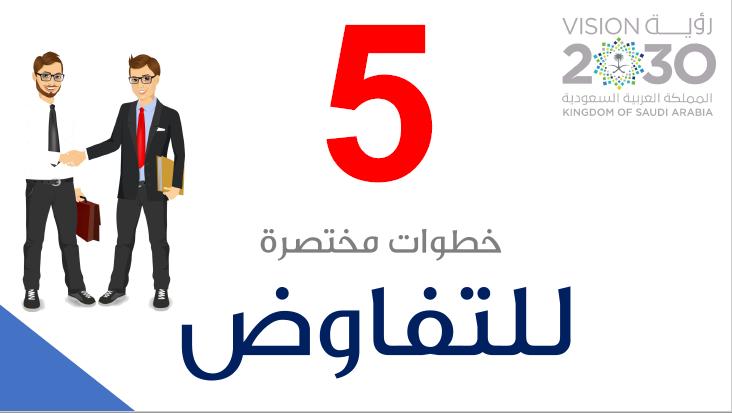 خمس خطوات مختصرة للتفاوض