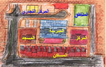 الشوارع داخل المجاورة السكنية